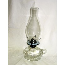 Glass Oil Lamp with Handle