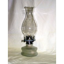 Glass Oil Lamp with Frosted Glass Base