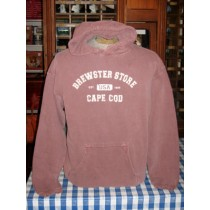 Distressed Sweat Shirt-Brewster Store/Cape Cod-Red