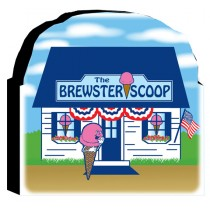 Brewster Scoop Wooden Cut Out Plaque