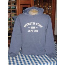 Distressed Sweat Shirt-Brewster Store/Cape Cod-Blue