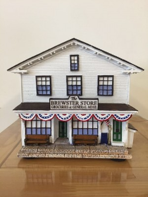 Lighted Model of the Brewster Store